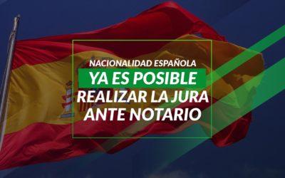 Ya es posible realizar la jura ante notario para la Nacionalidad Española
